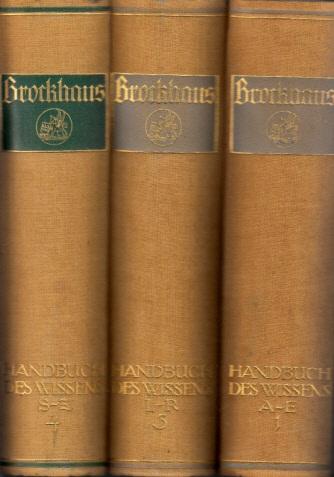 Brockhaus - Handbuch des Wissens in vier Bänden - Band 1, 2, 3, 4 4 Bücher