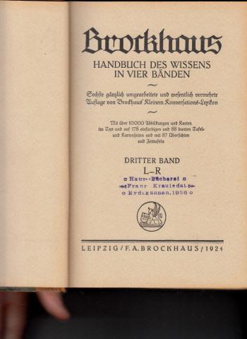 Brockhaus - Handbuch des Wissens - Band 1 + 2 + 3 3 Bücher