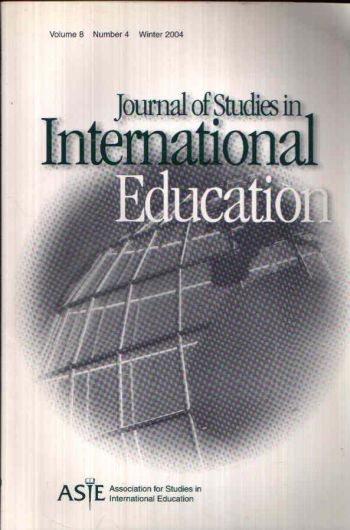 Journal of Studies in International Eduction Volume 8, Issue 4, Winter 2004