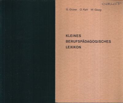 Kleines berufspädagogisches Lexikon