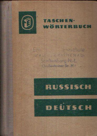 Russisch- Deutsches Wörterbuch Taschenwörterbuch