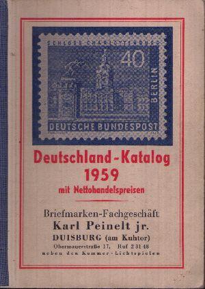 Deutschland Katalog 1959 mit Netto-Verkaufspreisen