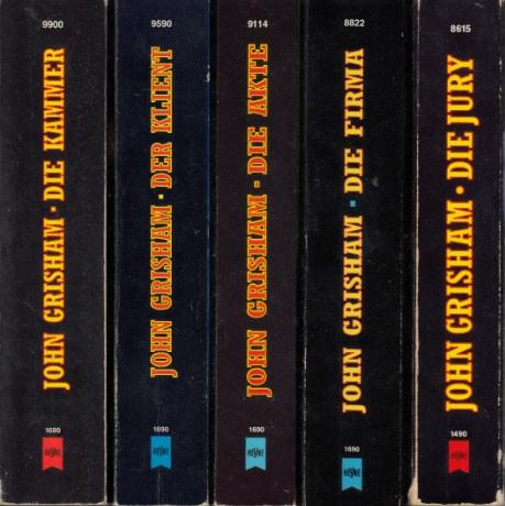 Die Jury - Die Firma - Die Akte - Der Klient - Die Kammer 5 Bücher der Heyne Allgemeinen Reihe
