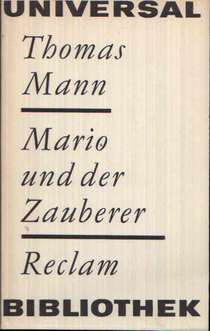 Mario und der Zauberer Reclams Universal-Bibliothek Band 148