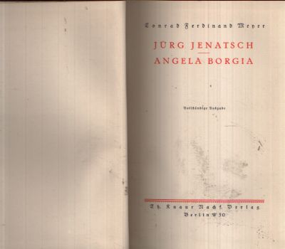 Jürg Jenatsch - Angela Borgia
