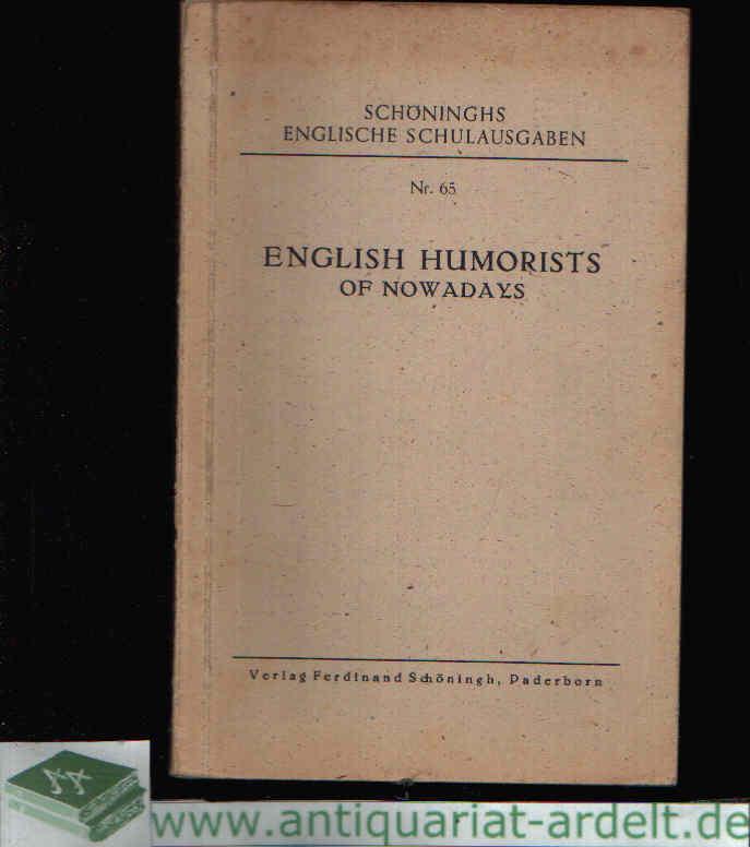 English Humorists of Nowadays Schönings englische Schulausgabe Nr. 65