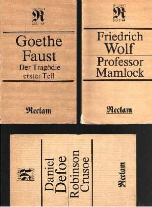 Professor Mamlock - Robinson Crusoe - Faust, Der Tragödie erster Teil 3 Bücher