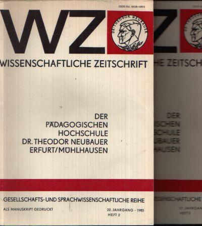 Wissenschaftliche Zeitschrift Zur Lexikologie der deutschen Sprache der Gegenwart - Gesellschafts- und Sprachwissenschaftliche Reihe - 17. Jahrgang, Heft 2 und 22. Jahrgang, Heft 2