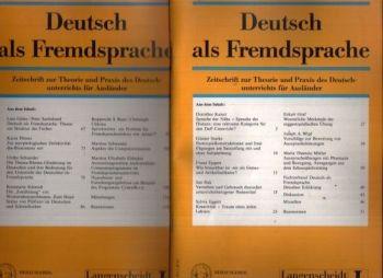 Deutsch als Fremdsprache Zeitschrift zur Theorie und Praxis des Deutschunterrichts für Ausländer - Heft 1 + 2, 33. Jahrgang