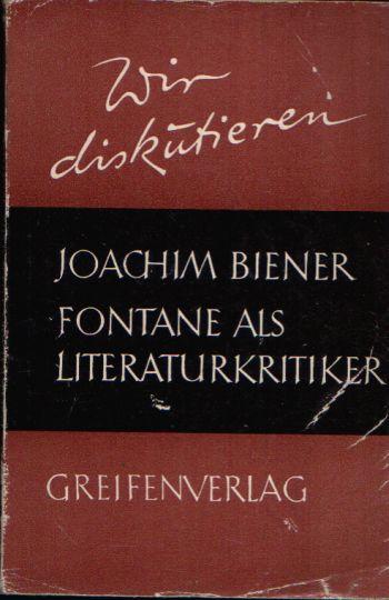 Fontane als Literaturkritiker