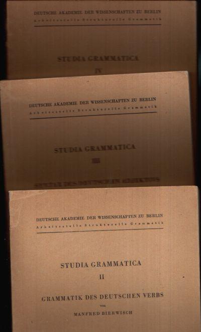 Studia Grammatica Bände II + III + IV + V + VI + VIII + X + XI + XII + XV + XVII + XVIII + XX + XXIV