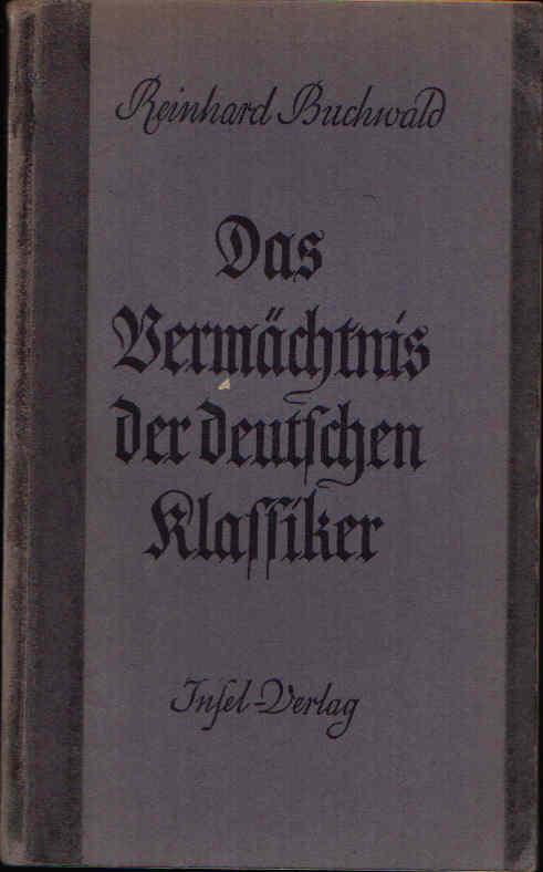 Das Vermächtnis der deutschen Klassiker