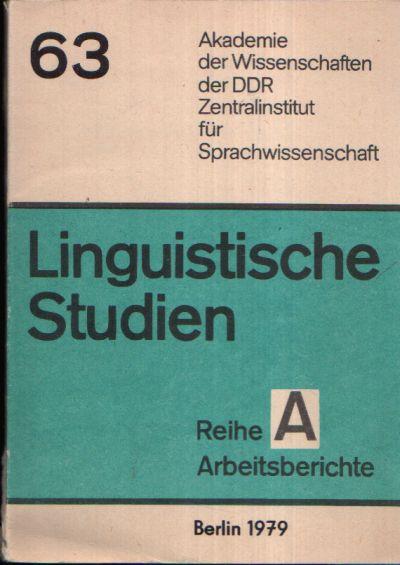 Wort, Satz und Text Linguistische Studien Reihe A Arbeitsbericht 63