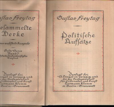 Gesammelte Werke - Politische Aufsätze erste Serie - Band 7