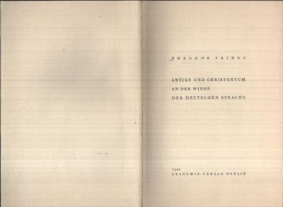 Antike und Christentum an der Wiege der Deutschen Sprache
