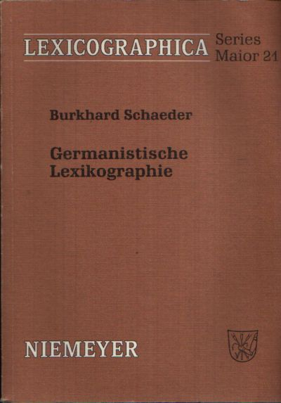 Germanistische Lexikographie Lexicographica : Series maior, Band 21