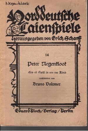 Peter Negenklook Een ol Spill in een nee Kleed Norddeutsche Laienspiele 14