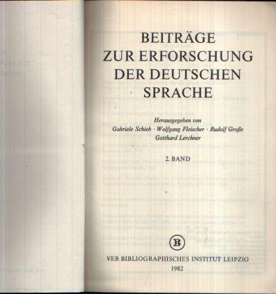 Beiträge zur Erforschung der Deutschen Sprache auszug aus 2. Band