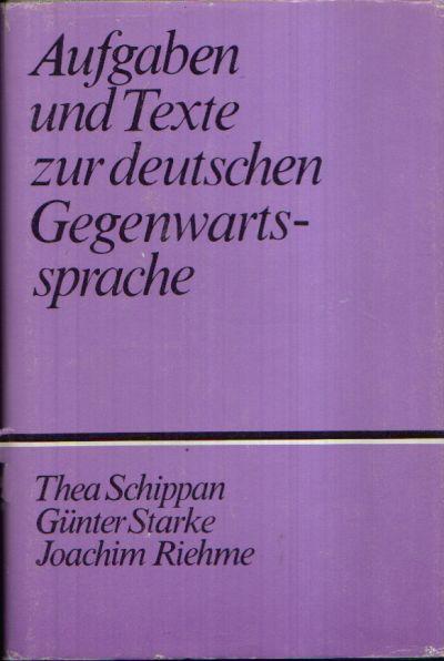 Aufgaben und Texte zur deutschen Gegenwartssprache