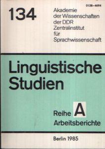 Untersuchungen zu konzeptionellen Problemen der historischen Lexikographie Linguistische Studien Reihe A Arbeitsbericht 134