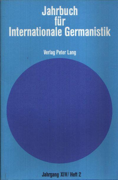 Jahrbuch für Internationale Germanistik Abhandlungen zum Rahmenthema XII `Stil und Stilkunde` siebte Folge