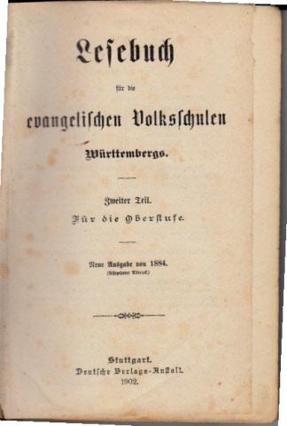 Lesebuch für die evangelischen Volksschulen Württembergs