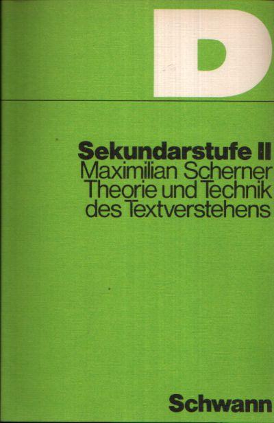 Theorie und Technik des Textverstehens Arbeitsheft zur Einführung in den Problembereich