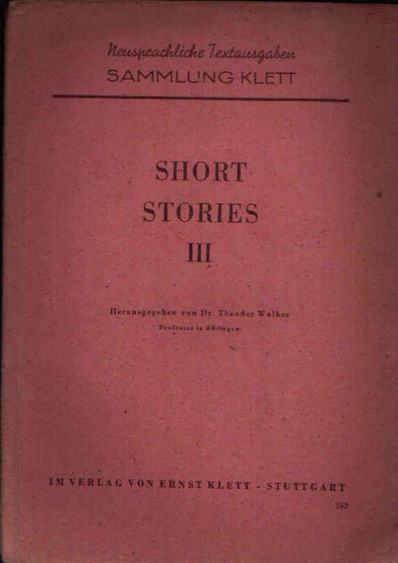 Short Stories III Neusprachliche Textausgaben Sammlung Klett