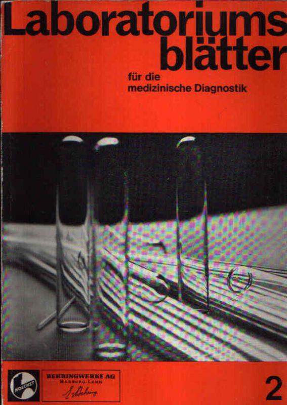 Laboratoriumsblätter für die medizinische Diagnostik Nr. 2, herausgegeben im September 1967
