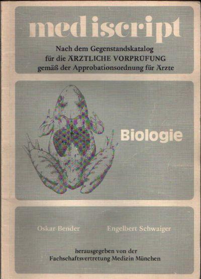 mediscript - Biologie nach dem Gegenstandskatalog für die ärztliche Vorprüfung gemäß der Approbationsordung für Ärzte