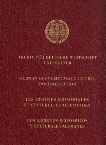 Archiv für Deutsche Wirtschaft und Kultur