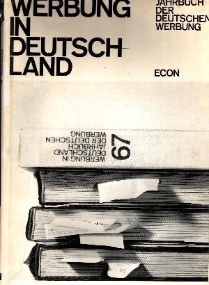 Werbung in Deutschland Jahrbuch der deutschen Werbung 67