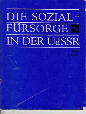 Die Sozialfürsorge in der UdSSR