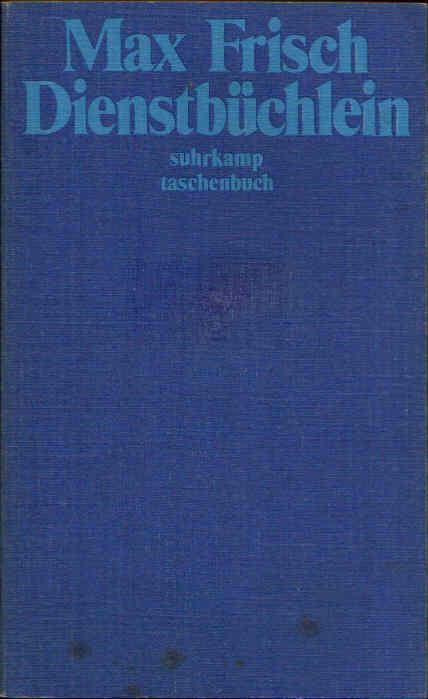 Dienstbüchlein Suhrkamp Taschenbuch 205