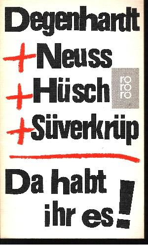 Da habt ihr es! Stücke und Lieder für ein deutsches Quartett. Mit 19 Illustrationen von Eduard Prüssen