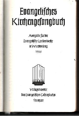 Evangelisches Gesangbuch Ausgabe für die Evangelische Landeskirche in Württemberg
