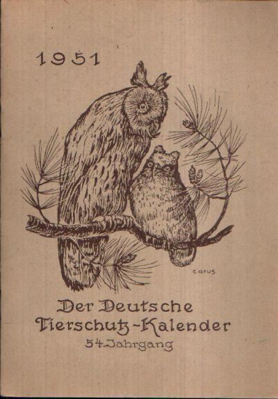 Der Deutsche Tierschutz- Kalender