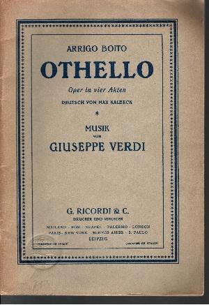 Othello Oper in vier Akten von Giuseppe Verdi