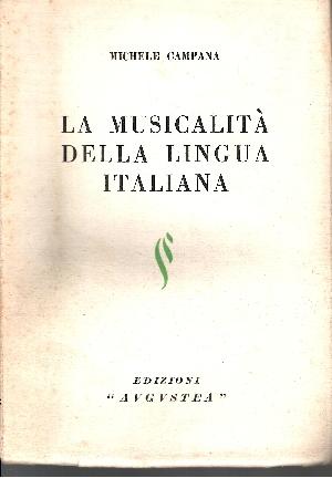 La Musicalitá della lingua itliana