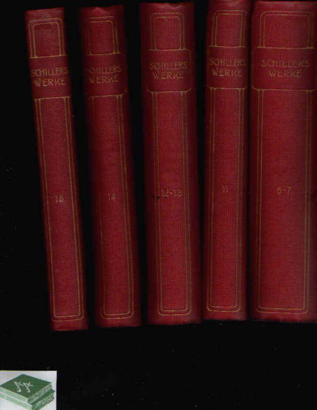 Schillers Werke in fünfzehn Teilen - Teile 6-7, 11, 12-13, 14, 15