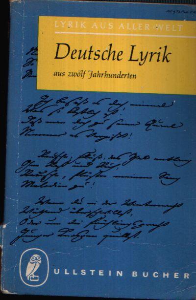 Deutsche Lyrik Aus 12 Jahrhunderten
