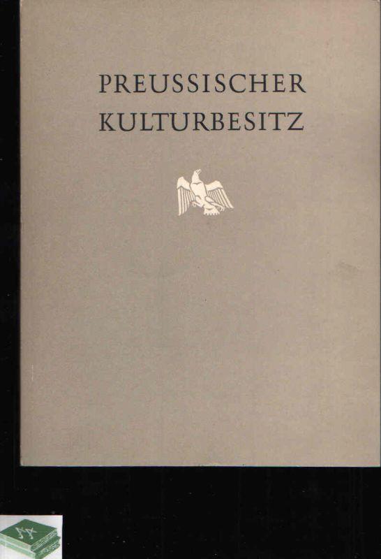 Preussischer Kulturbesitz Ausstellung in der Städtischen Kunsthalle Düsseldorf
