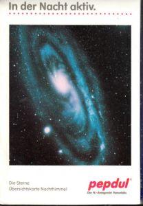 Die Sterne - Übersichtskarte Nachthimmel In der Nacht aktiv