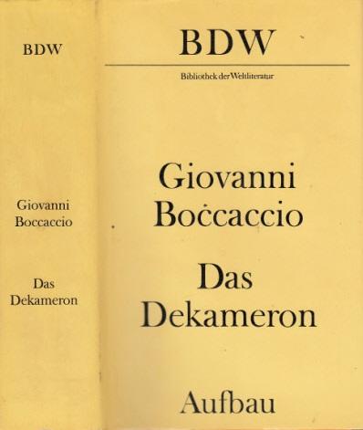 Das Dekameron Bibliothek der Weltliteratur
