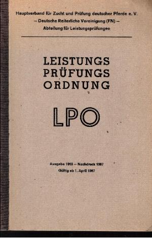 Leistungsprüfungsordnung LP Ausgabe 1965