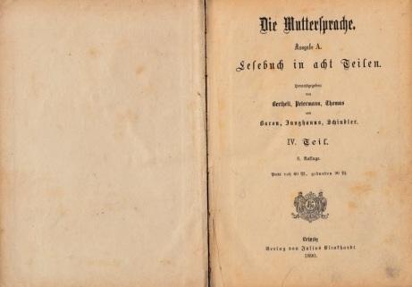 Die Muttersprache Ausgabe A - Lesebuch in acht Teilen - IV. Teil