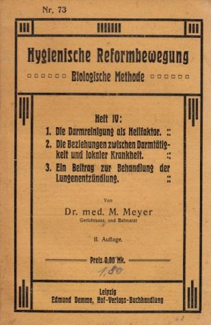 Medizinische Reformgedanken Heft IV