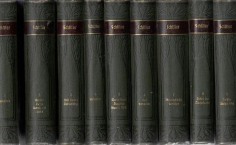 Schillers Werke - Band 1, 2, 3, 4, 5, 6, 7, 8, 9 9 Bände Meyers Klassiker-Ausgaben