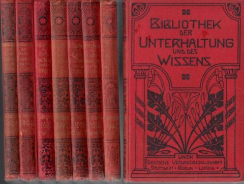 bibliothek der unterhaltung und des wissens band 9 1898 band 2 6 7 8 1925 10 1905 band 2. Black Bedroom Furniture Sets. Home Design Ideas