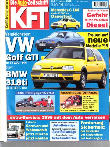 KFT Kraftfahrzeugtechnik - Technische Zeitschrift des Kraftfahrwesens - Jahrgang von 1995/ Hefte 1-12